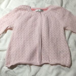 Angel dear 💯cotton soft pink one button sweater